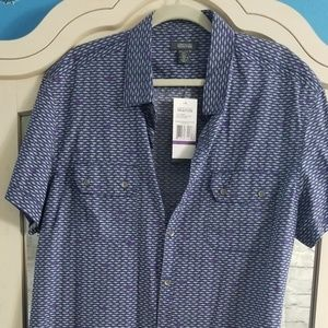 Mens NWT Kenneth Cole Reaction button up shirt XXL
